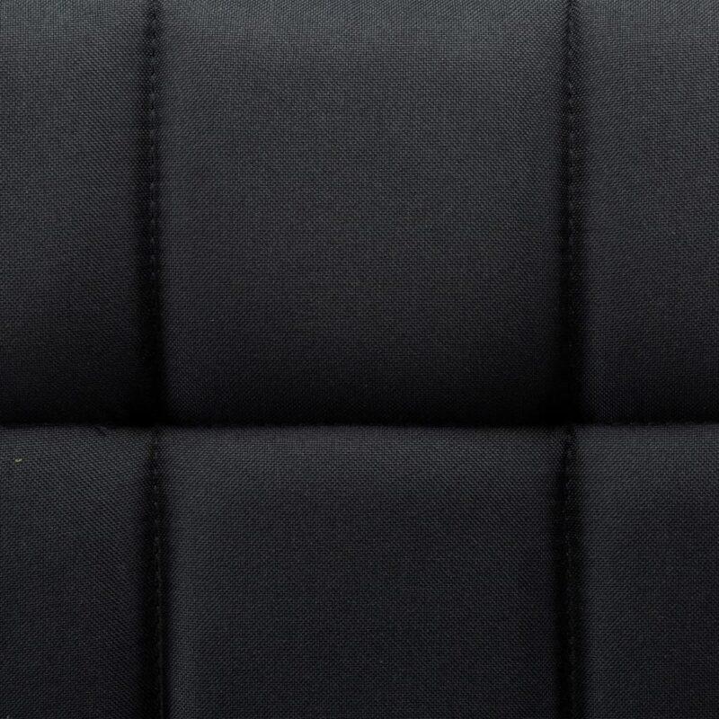 Eetkamerstoelen draaibaar 6 st stof zwart