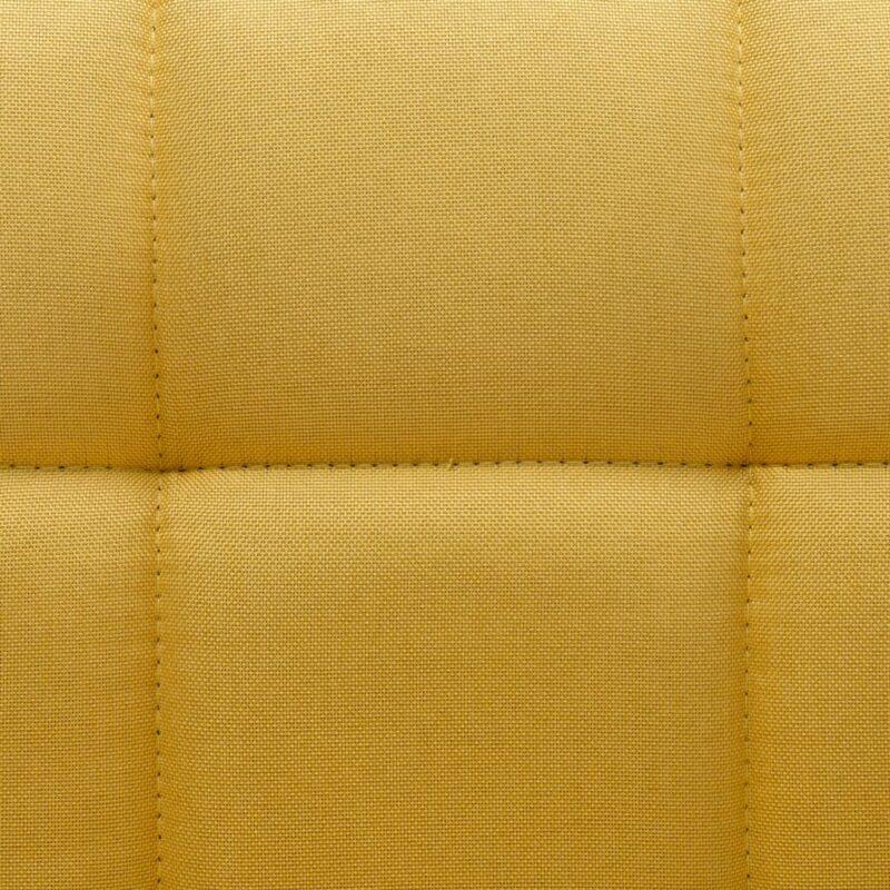 Eetkamerstoelen draaibaar 6 st stof geel