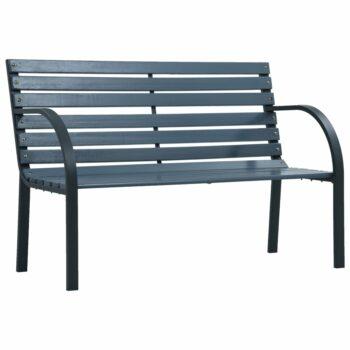 vidaXL Tuinbank 120 cm hout grijs