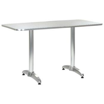vidaXL Tuintafel 120x60x70 cm aluminium zilverkleurig