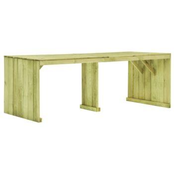 vidaXL Tuintafel 220×101,5×80 cm geïmpregneerd grenenhout