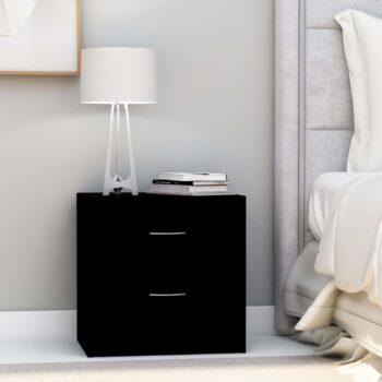 vidaXL Nachtkastje 40x30x40 cm spaanplaat zwart