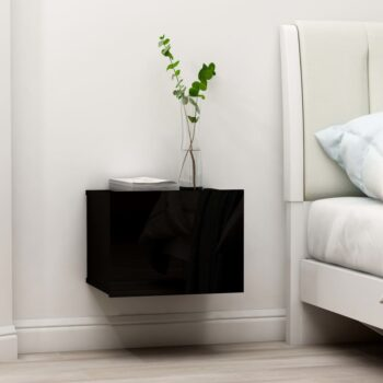 vidaXL Nachtkastjes 2 st 40x30x30 cm spaanplaat zwart