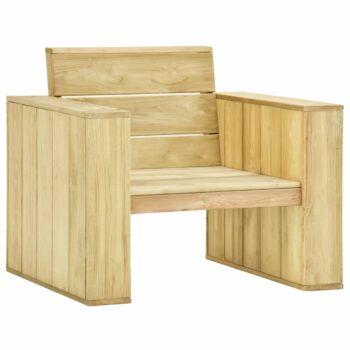 vidaXL Tuinstoel 89x76x76 cm geïmpregneerd grenenhout