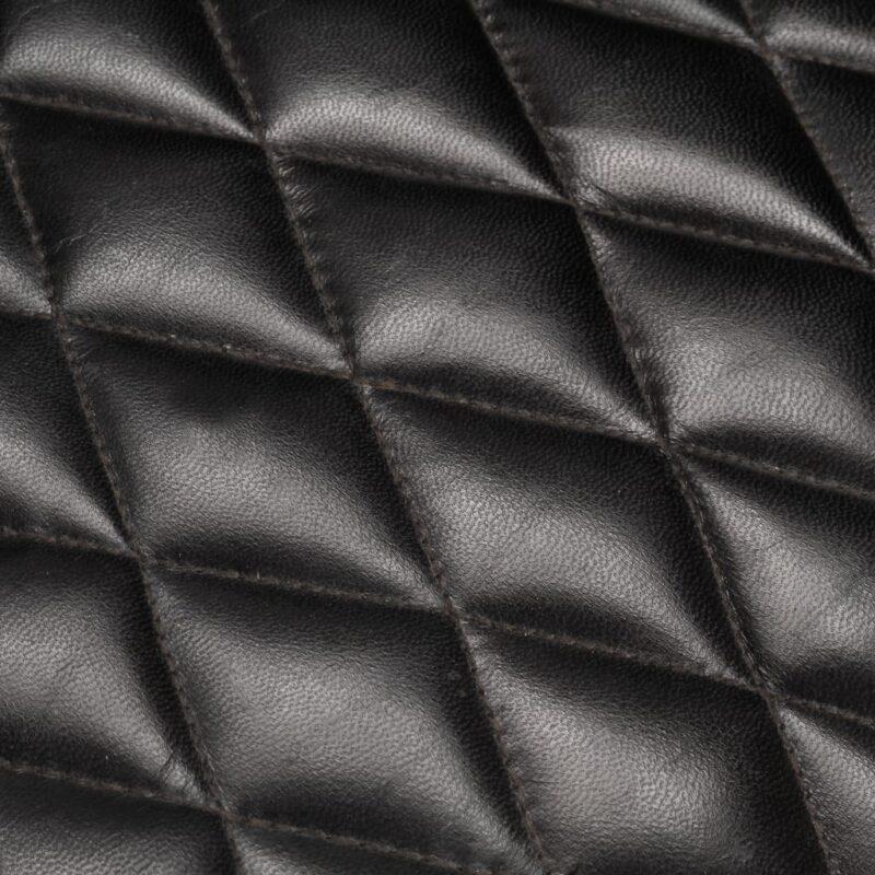 Kuipstoel 62x58x65 cm echt leer zwart