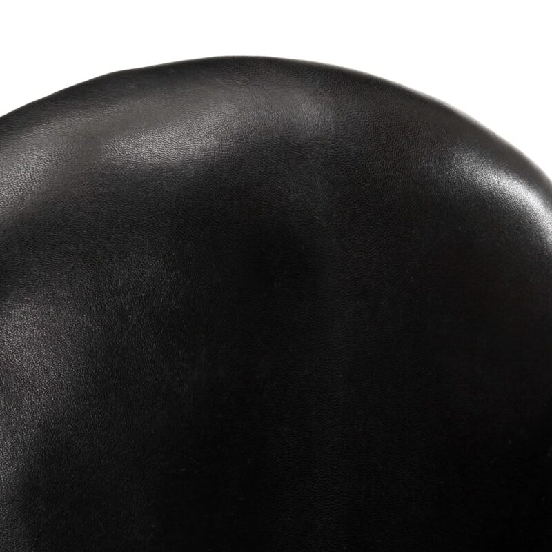 Kuipstoel 77x65x79 cm echt leer zwart