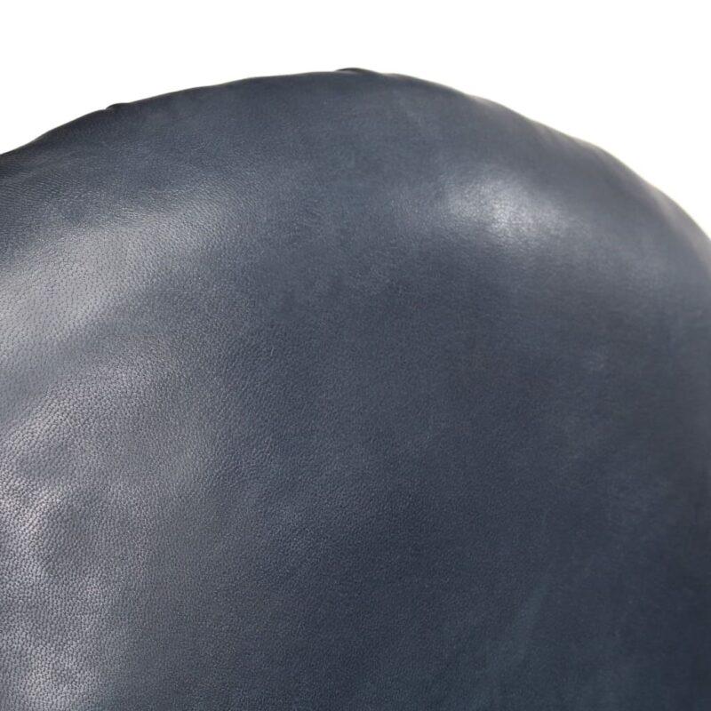 Kuipstoel 77x65x79 cm echt leer grijs