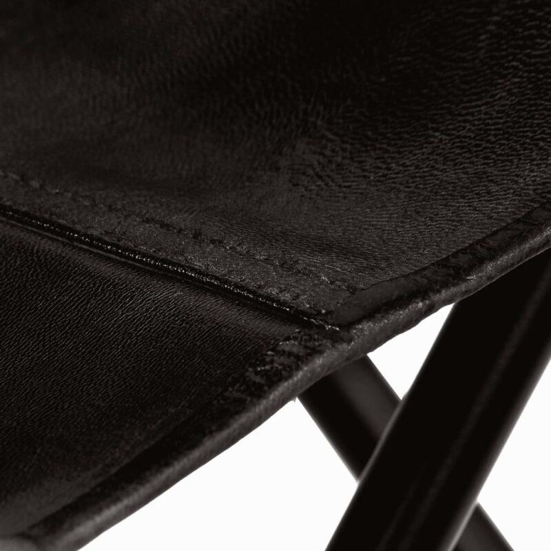 Vlinderstoelen 2 st kindermaat echt leer zwart