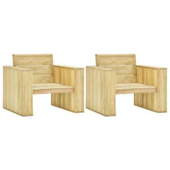 vidaXL Tuinstoelen 2 st 89x76x76 cm geïmpregneerd grenenhout