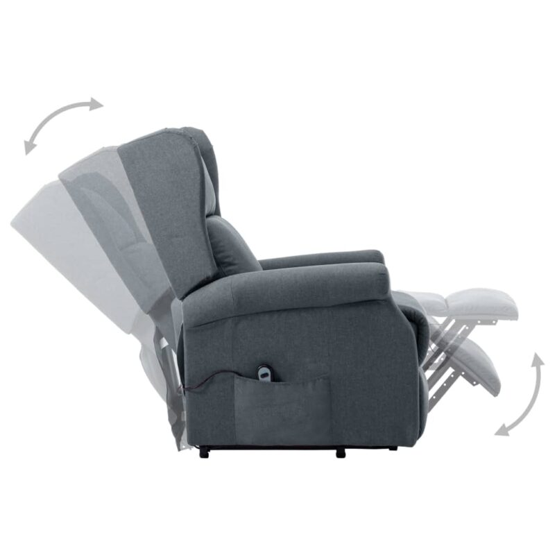 Sta-op-stoel stof lichtgrijs