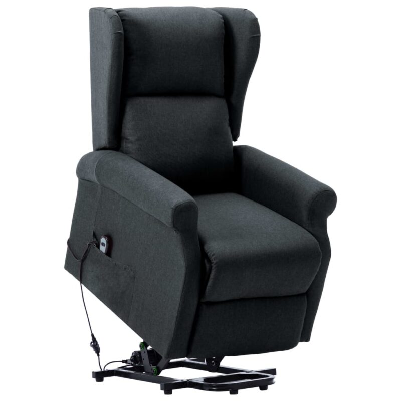 Sta-op-stoel stof donkergrijs
