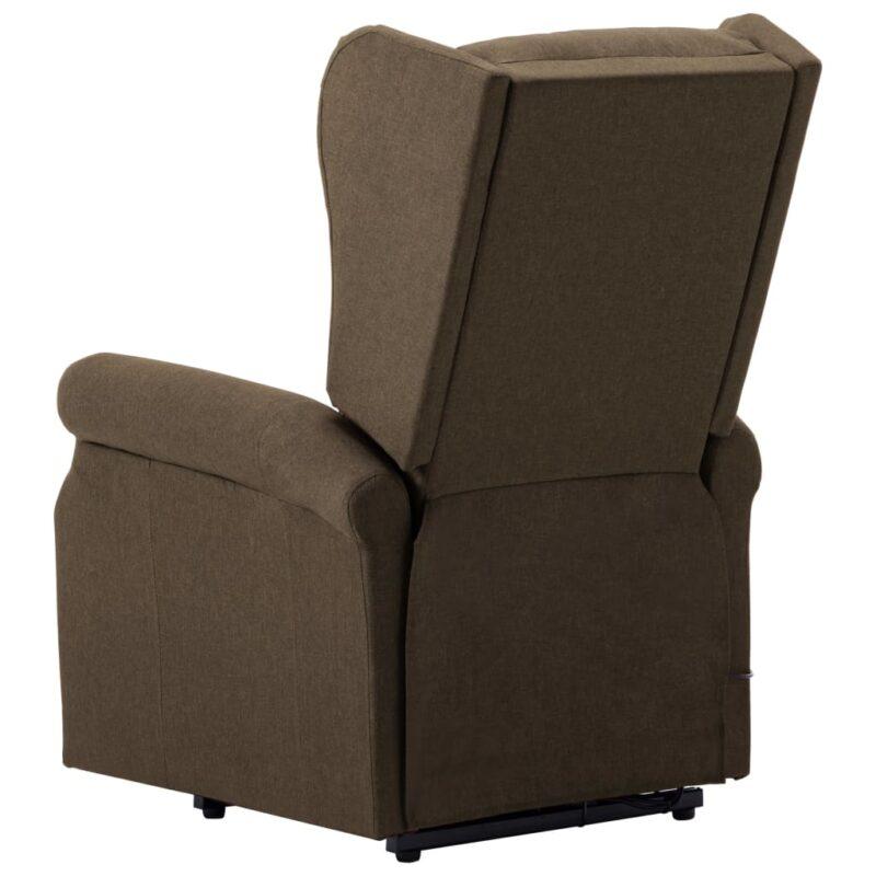 Sta-op-stoel stof bruin