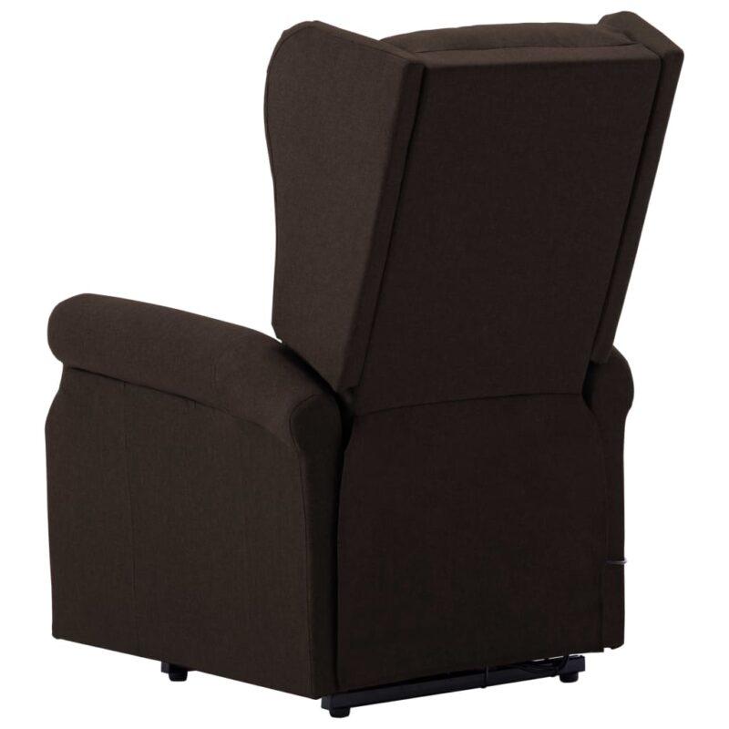 Sta-op-stoel stof donkerbruin