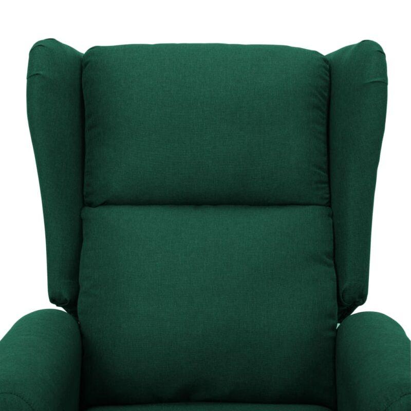 Sta-op-stoel stof donkergroen