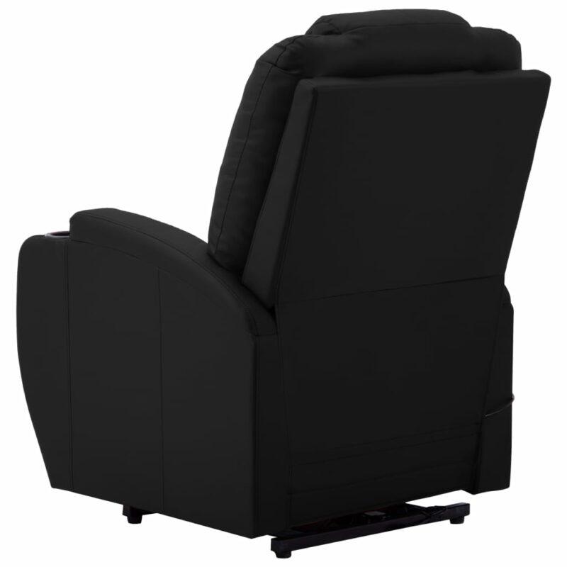 Sta-op-stoel kunstleer zwart