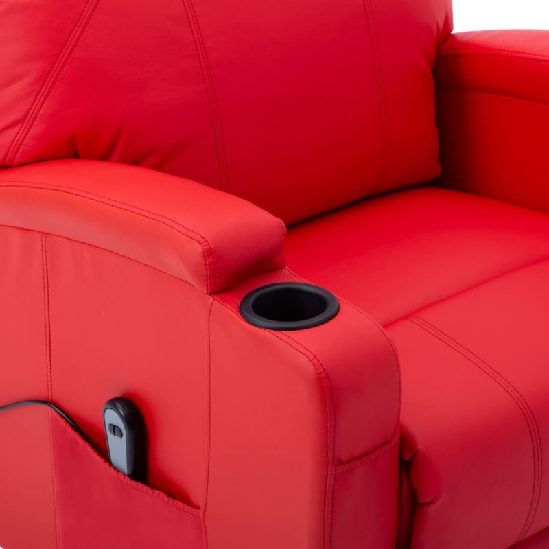 Sta-op-stoel kunstleer rood