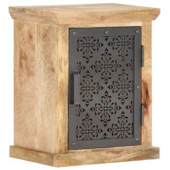 vidaXL Nachtkastje met deur 40x30x50 cm massief mangohout