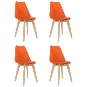 vidaXL Eetkamerstoelen 4 st kunststof oranje