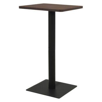 vidaXL Bistrotafel 60x60x107 cm hout en staal donkeressenkleurig
