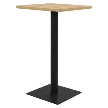 vidaXL Bistrotafel 78,5×78,5×107 cm hout en staal eikenkleurig
