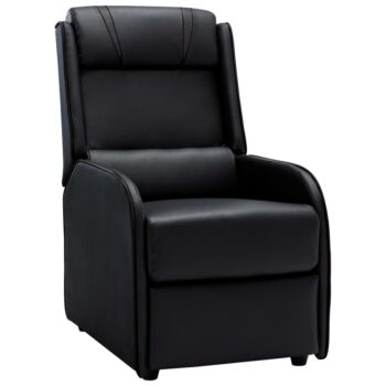 vidaXL Leunstoel kunstleer zwart en grijs