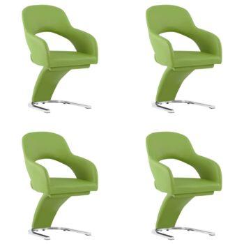 vidaXL Eetkamerstoelen 4 st kunstleer groen