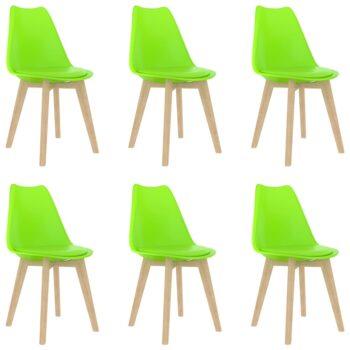 vidaXL Eetkamerstoelen 6 st kunststof groen