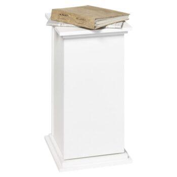 FMD Bijzettafel met deur 57,4 cm wit