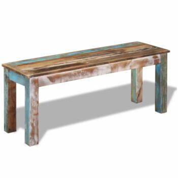 vidaXL Bank 110x35x45 cm massief gerecycled hout