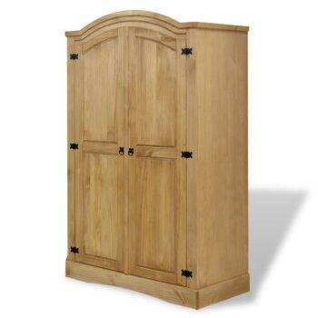 vidaXL Kledingkast Mexicaans grenenhout Corona-stijl 2 deuren