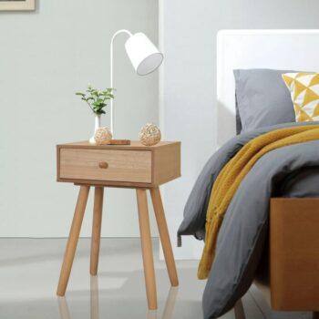 vidaXL Nachtkastjes 2 st 40x30x61 cm massief grenenhout bruin