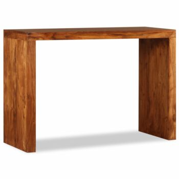 vidaXL Wandtafel 110x40x76 cm massief hout met sheesham afwerking