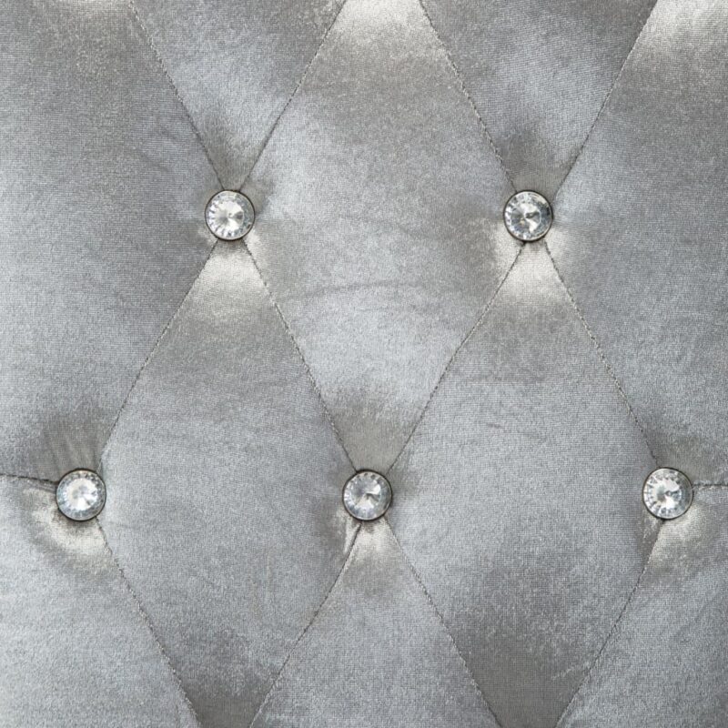 Eetkamerstoelen 4 st fluweel zilverkleurig