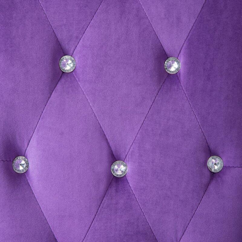 Eetkamerstoelen 6 st fluweel paars