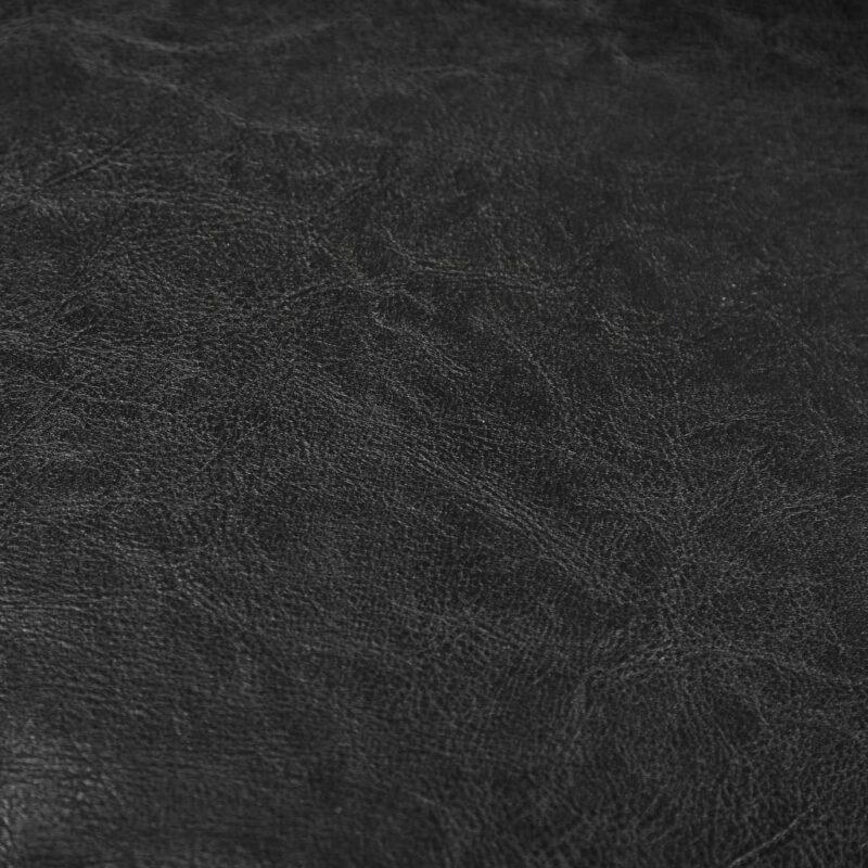 Kuipstoel kunstleer zwart