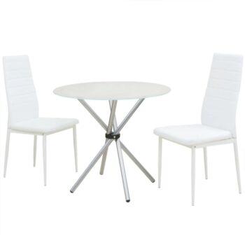vidaXL Eetkamerset tafel en stoelen 3-delig