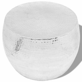 vidaXL Salontafel rond aluminium zilver