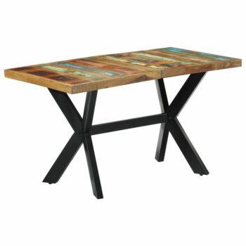 vidaXL Eettafel 140x70x75 cm massief gerecycled hout
