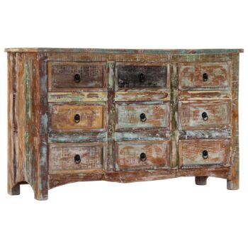 vidaXL Ladekast 130x40x80 cm massief gerecycled hout