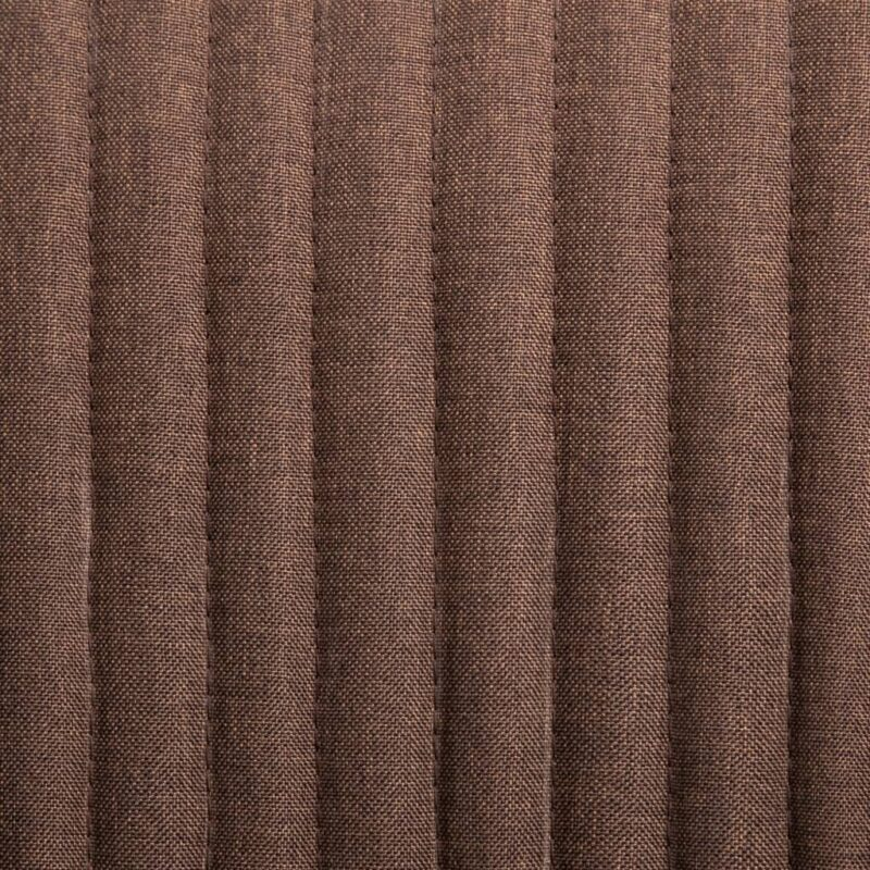 Eetkamerstoelen 2 st stof bruin
