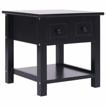 vidaXL Bijzettafel 40x40x40 cm paulowniahout zwart