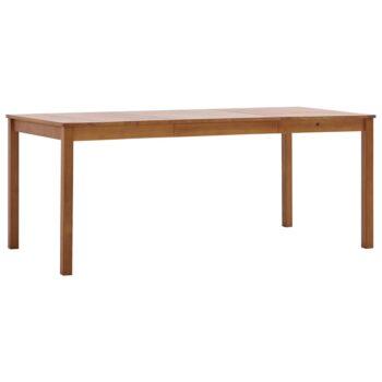 vidaXL Eettafel 180x90x73 cm grenenhout honingbruin