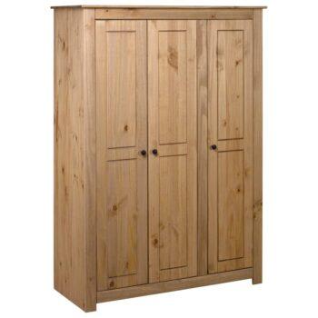 vidaXL Kledingkast 3 deuren Panama Range 118x50x171,5 cm grenenhout