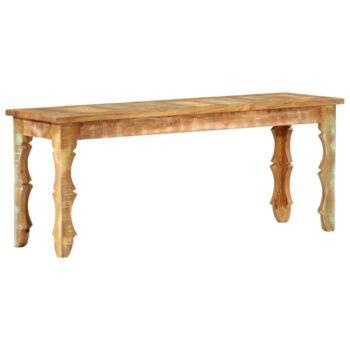 vidaXL Bankje 110x35x45 cm massief gerecycled hout