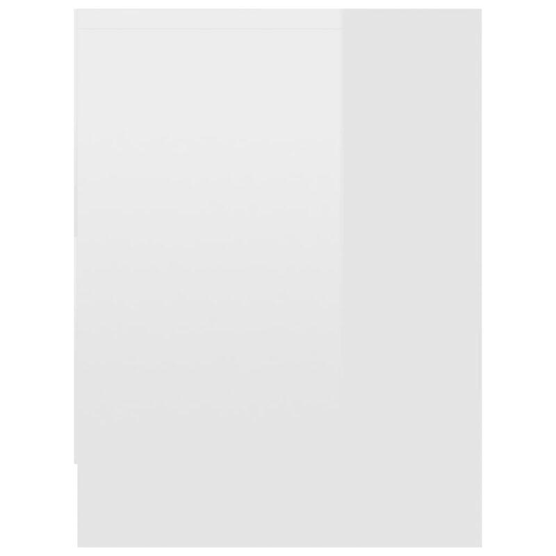 Nachtkastjes 2 st 40x30x40 cm spaanplaat hoogglans wit