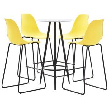 vidaXL 5-delige Barset kunststof geel