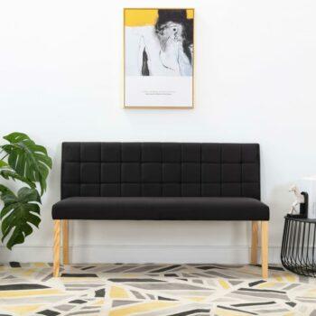 vidaXL Bank 140 cm stof zwart