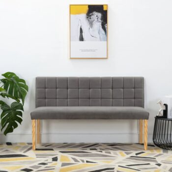vidaXL Bankje 140 cm stof grijs
