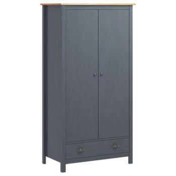 vidaXL Kledingkast 2 deuren Hill Range 89x50x170 cm grenenhout grijs