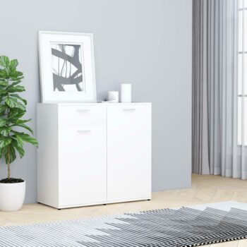 vidaXL Dressoir 80x36x75 cm spaanplaat wit